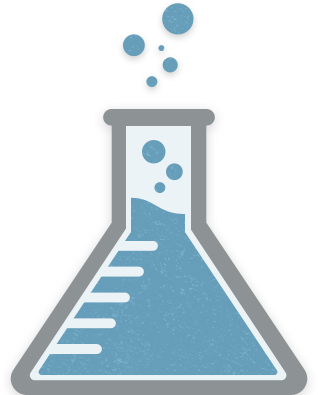 Erlenmeyer flask illustration